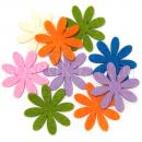 Набор цветочков из фетра