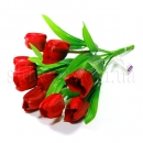 Букет из девяти тюльпанов