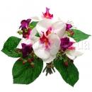 Букет с орхидеями. Цвет бело-сиреневый