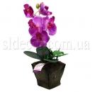 Орхидея в горшочке искусственная