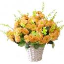 Искусственные цветы в горшочке