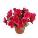 Искусственные розы в пластиковом горшочке