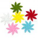 Цветы из фетра разноцветные