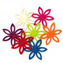 Фигурные цветы из фетра