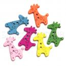 Пуговицы жираф деревянные