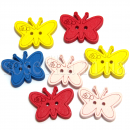 Бабочки пуговицы декоративные