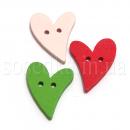 Сердечки деревянные пуговицы купить