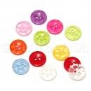 Прозрачные пуговицы разноцветные