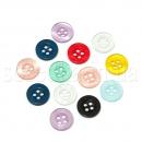 Пуговицы пластиковые разноцветные