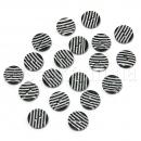 Пуговицы черно-белые пластиковые