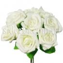 Розы из латекса восемь штук