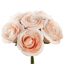 Букет из шести светло-розовых роз