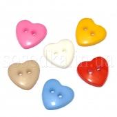 Пуговицы сердечки пластиковые
