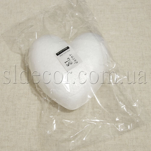 Серце пенопластовое