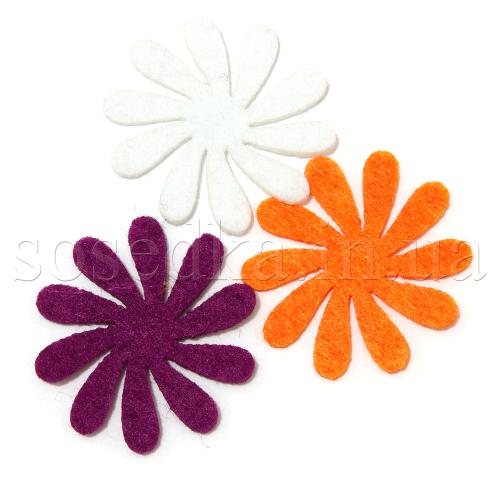 Цветочки из фетра