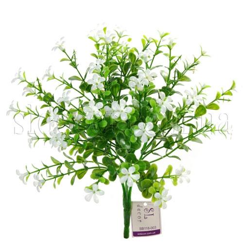 Куст с белыми цветочками