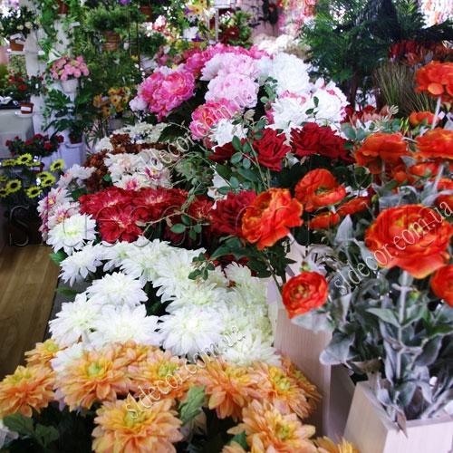 Искусственные цветы георгины