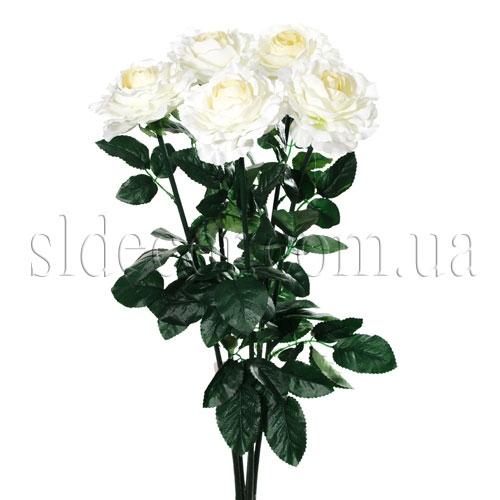 Белые розы декоративные