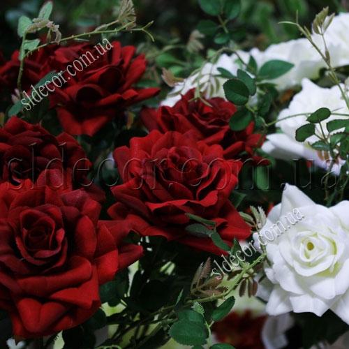 Розы искусственные красные