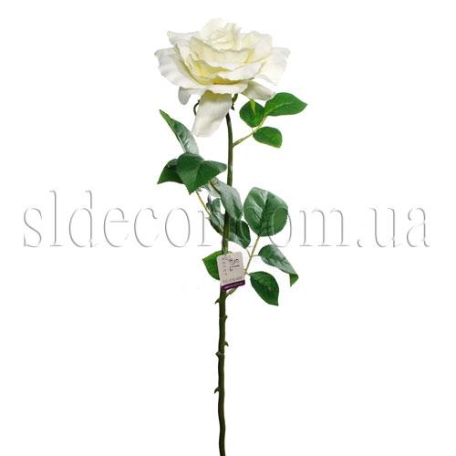 Декоративная белая роза