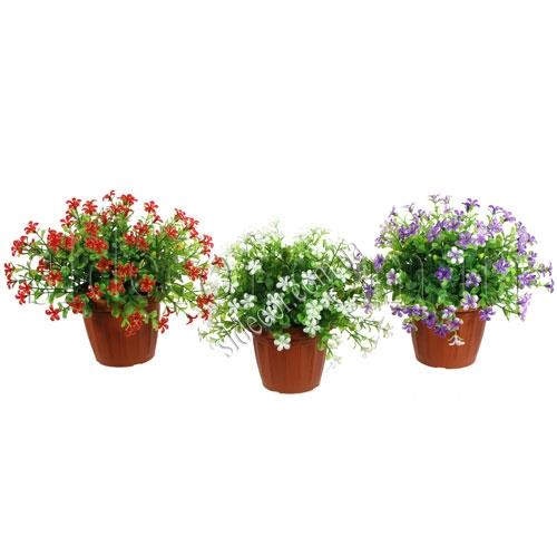 Растения искусственные в горшочках