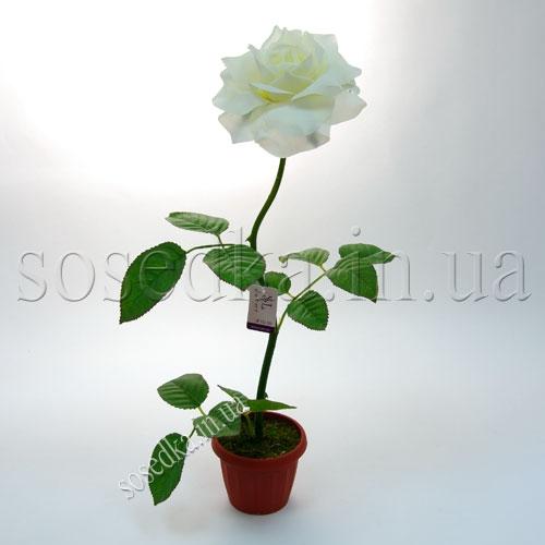 Искусственная роза в горшочке