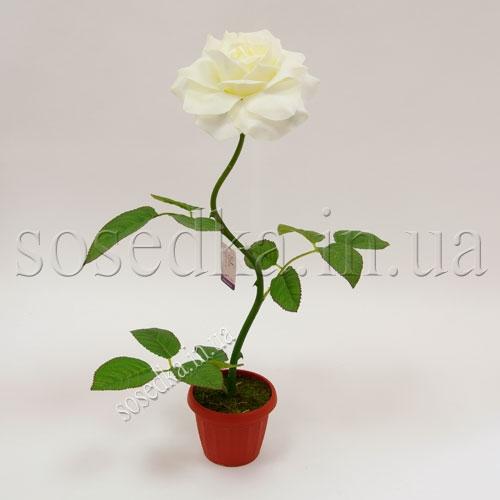 Роза искусственная в горшочке