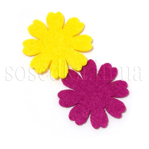 Яркие цветы из фетра