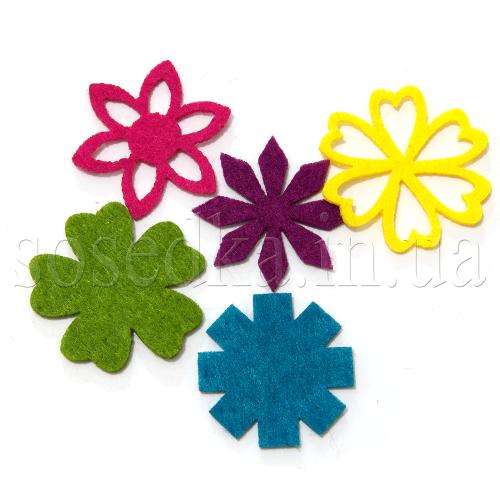 Цветы искусственные из фетра