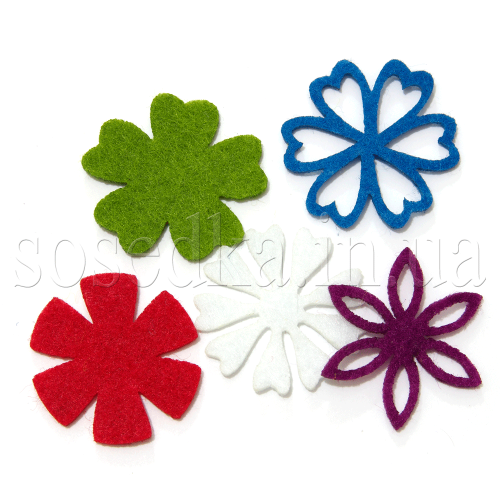 Цветы из фетра набор