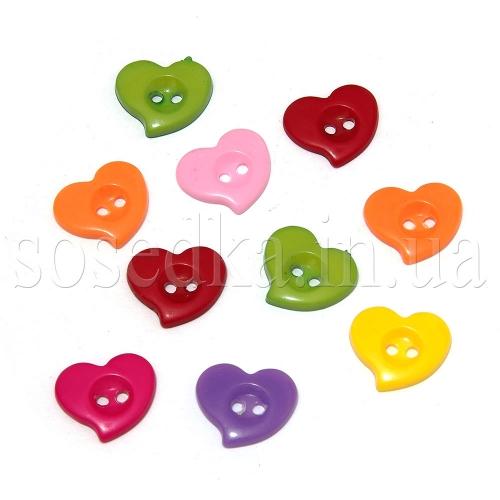 Сердечки пуговицы для скрапбукинга