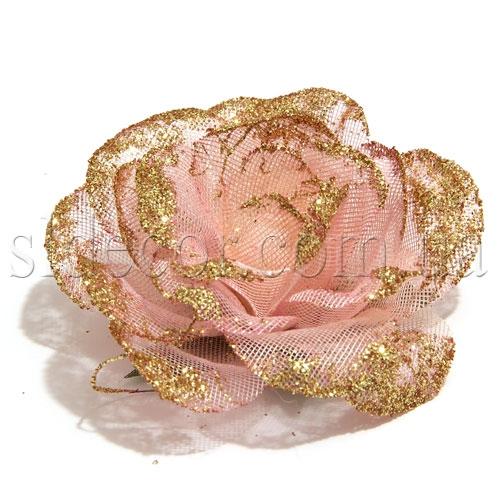Головка розы из ткани