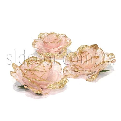 Розы из фатина