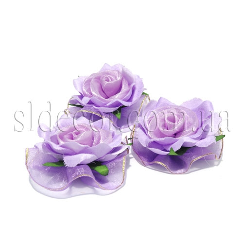 Головки роз из ткани