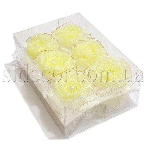 Головки роз из органзы