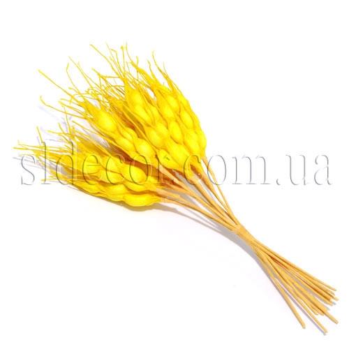 Декоративные колоски желтые