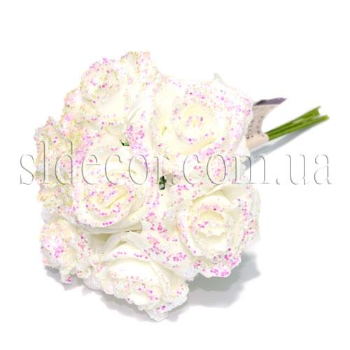 Розы из латекса с перламутром