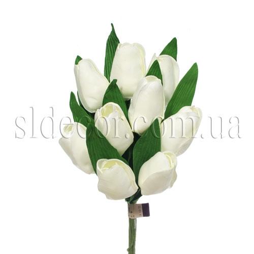 Букет из девяти латексных тюльпанов