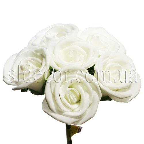 Букет из шести белых роз