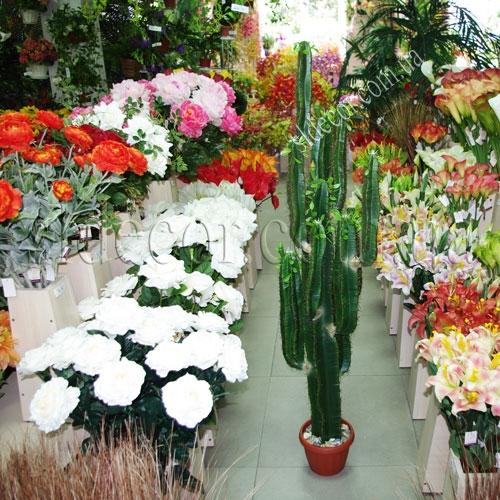 Искусственный кактус в интерьере