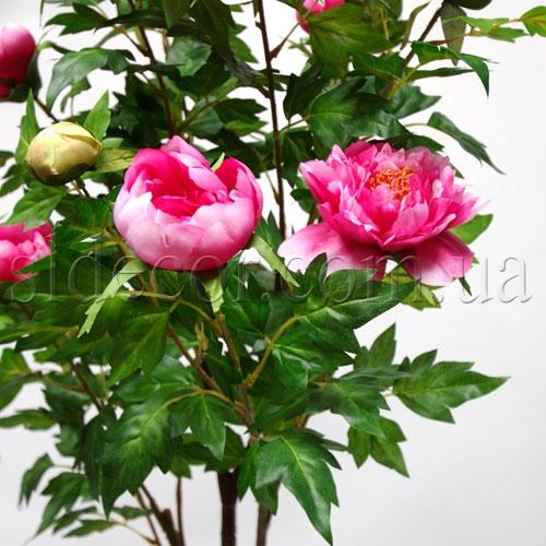 Пион розовый искусственный