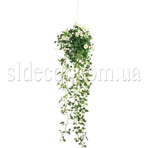 Искусственная зелень с цветами