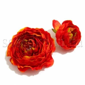 Головки цветов из ткани