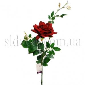 Искусственная роза красная