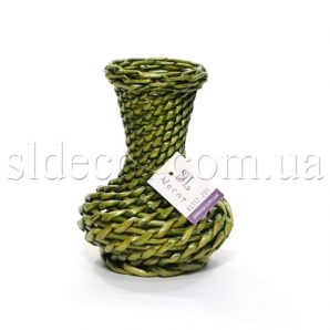Ваза для цветов плетеная