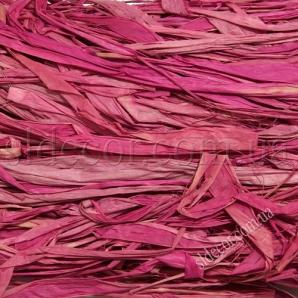 Рафия темно-розовая