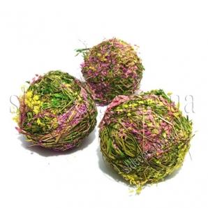 Шарики декоративные из сухоцвета