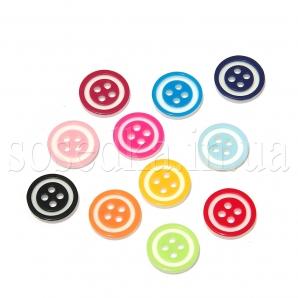 Пуговицы круглые четыре отверстия