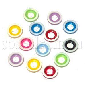 Круглые пластиковые пуговки