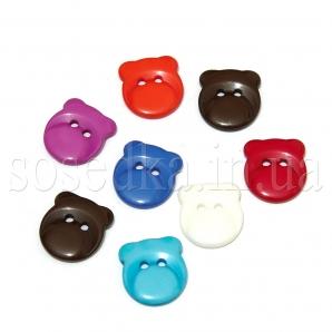 Пуговицы мишки пластиковые